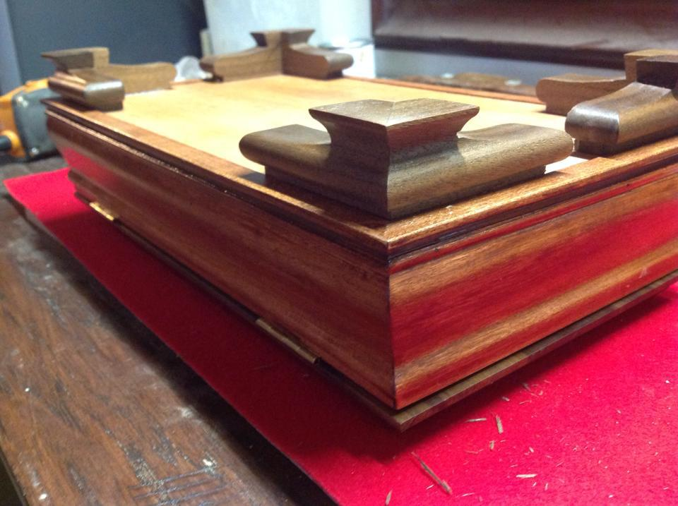 Scrolled Ogee Bracket feet for a keepsake box.