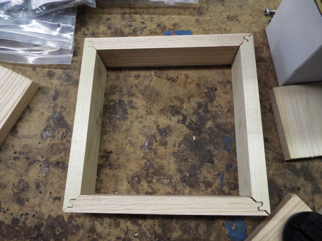 Creation of a box with lock miter joints.