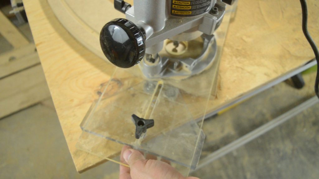 Using the Arched Fluting Jig Edge Guide to make curved moldings.